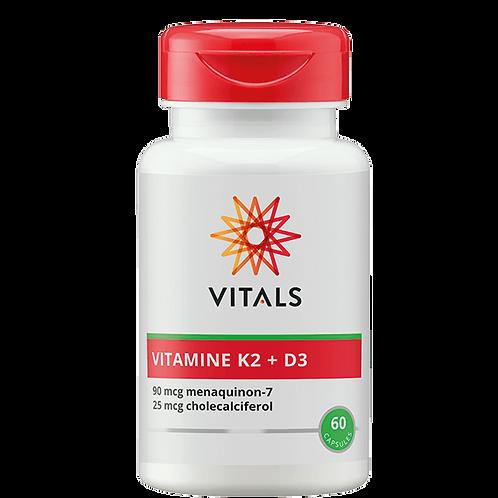 VITAMINE K2 + D3 60 CAPSULES