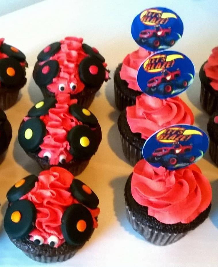 Blaze The Monster Truck Cupcakes