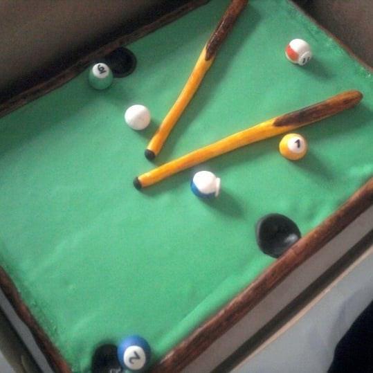 Gluten Free Pool Table Cake