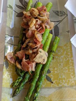 Mushroom Bacon Asparagus