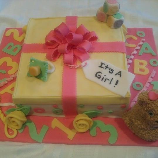 Present Baby Shower Cake