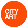 A circular orange logo with the words CITY ART