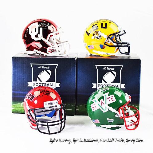 Autographed College Football Mini Helmet Hobby Box