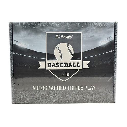 Autographed Baseball Triple Play