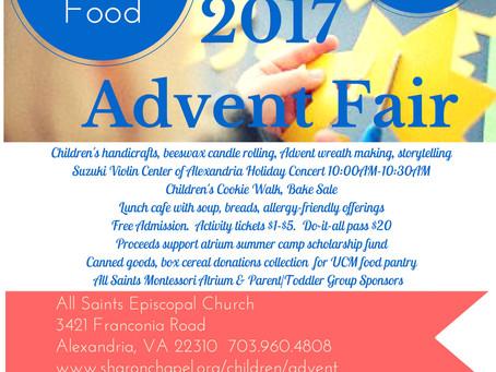Advent Fair Saturday -- CANCELED