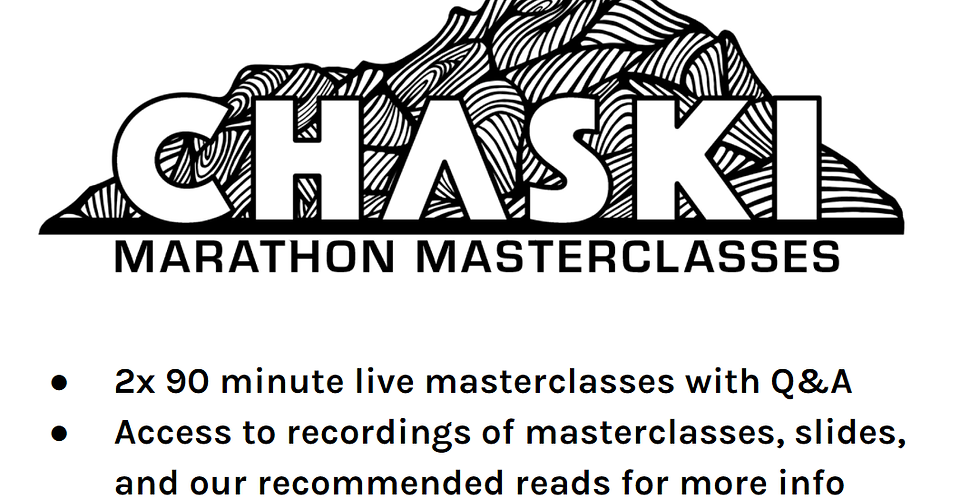 Marathon Masterclass Standard Package