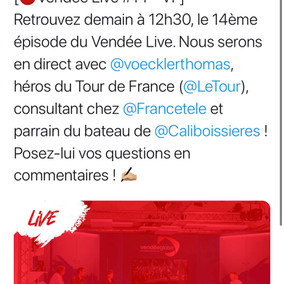 Vendée Globe | Thomas, invité du Vendée Live