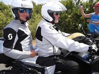 Paris-Nice   Thomas VOECKLER sur la moto-son FranceTV