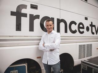 Tour de France | Thomas Voeckler sur la moto de France Télévisons