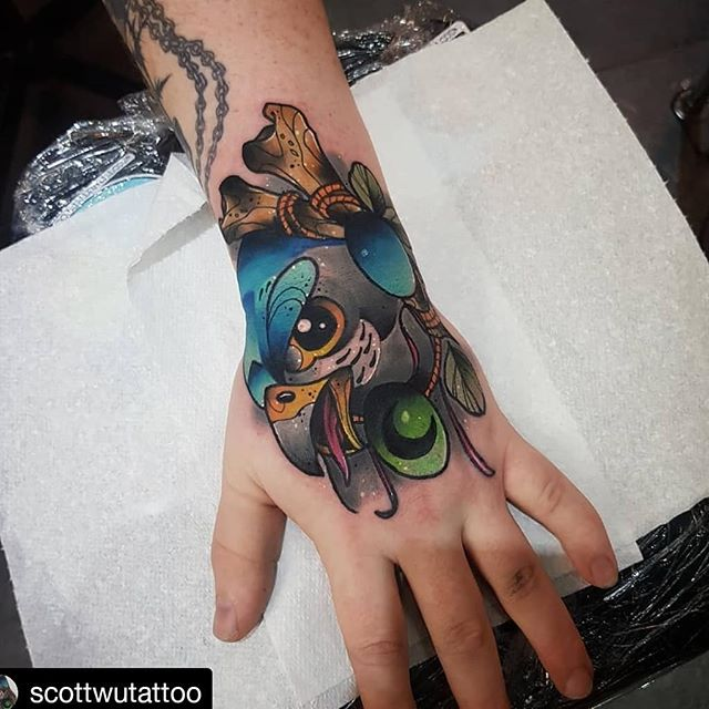 _scottwutattoo_• • •_Peregrine Falcon on