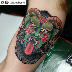 #Repost _tattoosbystu ・・・_LOVE! tattooin