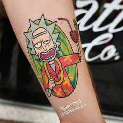 #Repost _tattoosbystu_・・・__rickandmorty