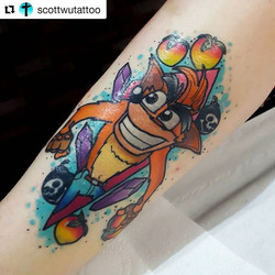 #Repost _scottwutattoo ・・・_💥Almost Heal