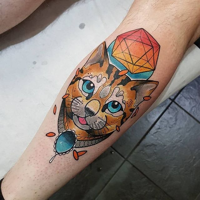 #Repost _scottwutattoo_・・・_Cat from toda