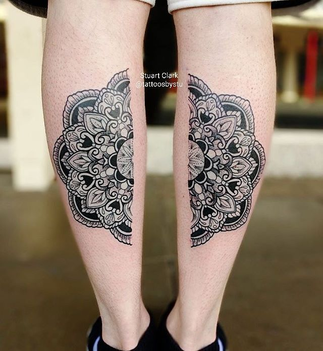Split mandalas by Stuart _tattoosbystu