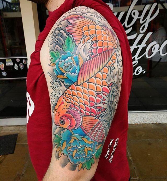 #Repost _tattoosbystu_・・・_Big koi half s