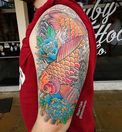 #Repost _tattoosbystu_・・・_Big koi half s