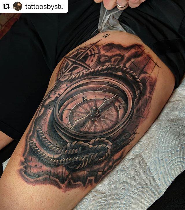 #Repost _tattoosbystu_・・・_Finished up th
