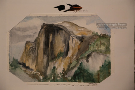 Red Tail over Half Dome