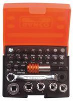 BAHCO 2058/S26 - Standard Ratchet, Sockets & Bit Set - 26 Piece