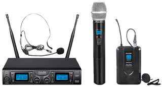 PULSE PWM2000UHF-HH/BP - UHF Dual Handheld / Beltpack Wireless Microphone System