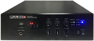 PULSE PLUS PLS00581 120W 100V Line Desktop PA Mixer Amplifier