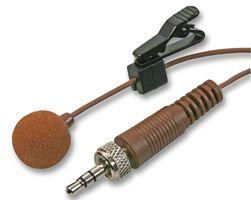 PULSE MIC-500LJ BROWN - Lavalier Microphone with 3.5mm Locking Jack Plug, Brown