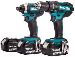 MAKITA DLX2131JX1 - 18V 3x 3Ah Li-Ion LXT Combi Drill & Impact Driver Twin Pack