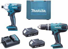 MAKITA DK18015X1G Series Cordless Combi Drill & Impact Driver Twin Pack