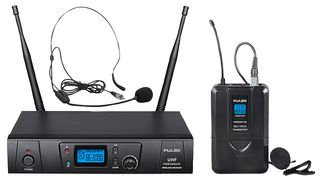 PULSE PWM1000UHF-BP - UHF Wireless Lavalier and Headset Microphone System