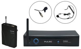 PULSE PWM24-LAV-HSM - 2.4GHz Wireless Lavalier and Headset Microphone System