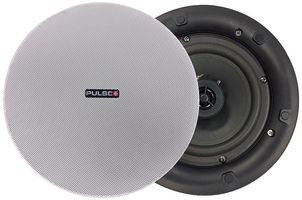 """PULSE PLUS PLS00555 - 6.5"""" 100V Coaxial Ceiling Speaker with Magnetic Grill 20W"""