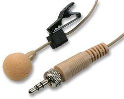PULSE MIC-500LJ BEIGE - Lavalier Microphone with 3.5mm Locking Jack Plug, Beige