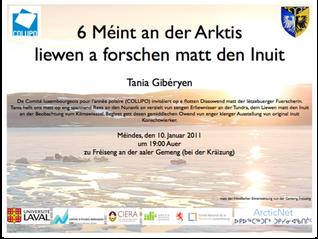 Konferenz: 6 méint an der Arktis - Liewen a Forschen matt den Inuit