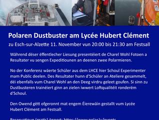 Invitatioun : Polaren Dustbuster am Lycée Hubert Clément Esch