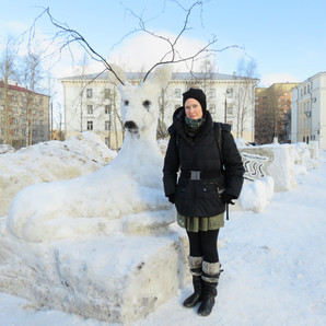 Jill Diederich exploring ecological practices in Arkhangelsk