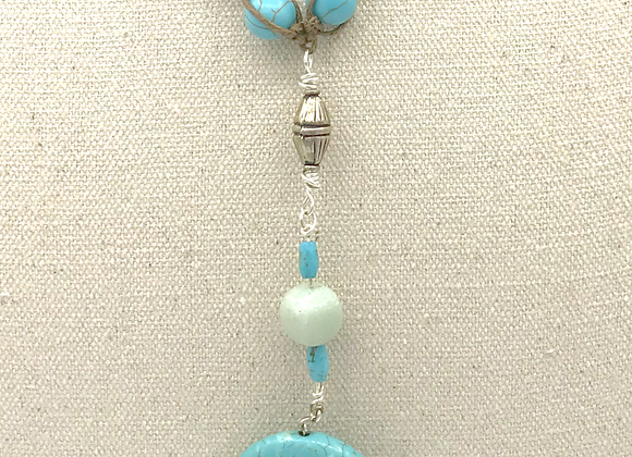 Turquoise Colored Magnasite Necklace