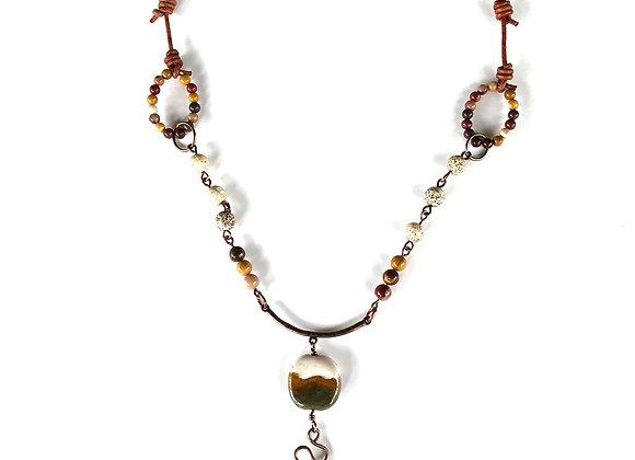 Handmade African Bead Adjustable Necklace