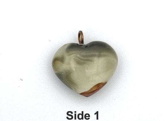 Polychrome Jasper Heart Pendent