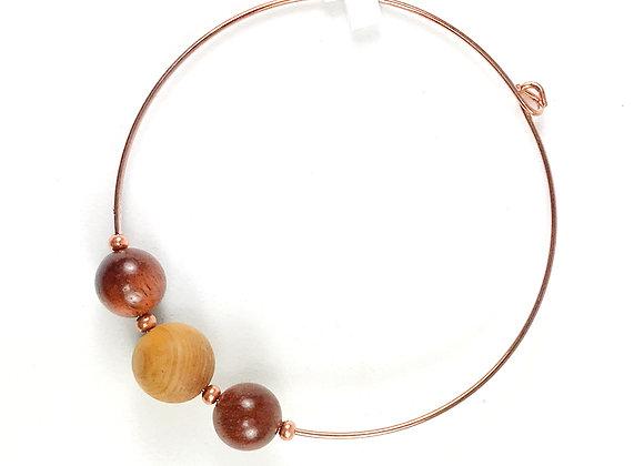 Sandlewood and Rosewood Copper Bracelet