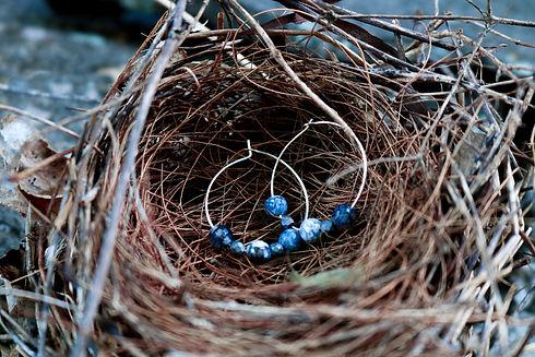 blue-silver-tone-hoop-earings