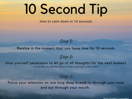 How to Calm Down in 10 Seconds