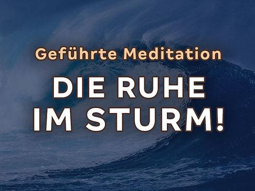 Webinar/Meditation: Die Ruhe im Sturm - emotionale Wellen zähmen
