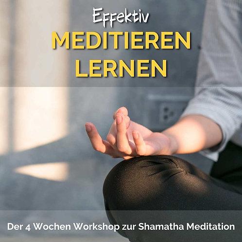 Effektiv meditieren lernen - Aufzeichnung des 4-Wochen Workshops