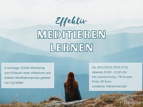 Ticket Workshop: Effektiv meditieren lernen // Do. 26.11. - 17.12.