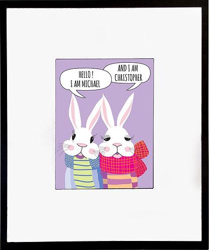 Rabbits Twin Poster 600 X 480 X 12mm