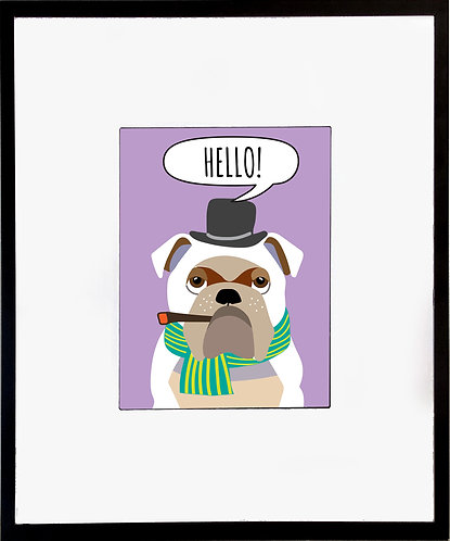 Bull Dog Poster 600 X 480 X 12mm