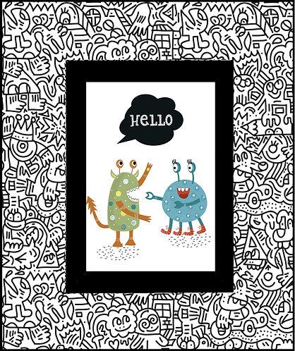 Monster Doodle_Hello 600 X 480 X 12mm