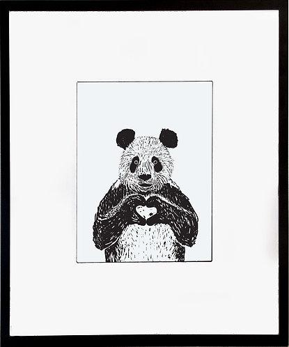 Panda Bear Poster 600 X 480 X 12mm