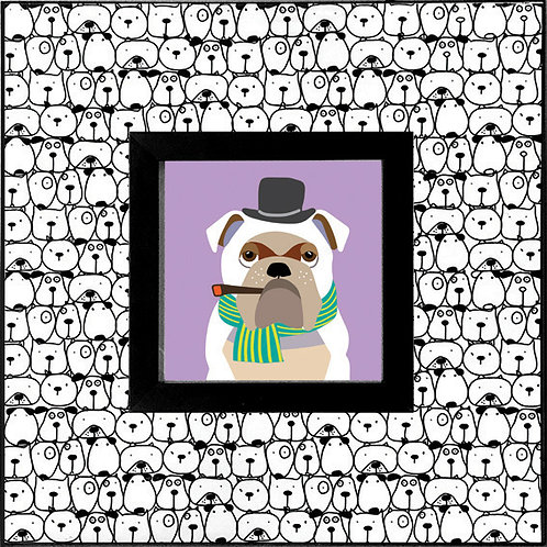 Bull Dog_Purple   400 X 400 X 12mm